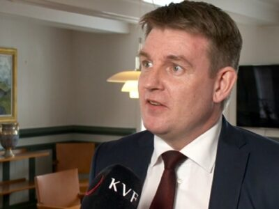 Aksel V. Johannesen, leader of the Social Democratic Party (Javnaðarflokkurin)