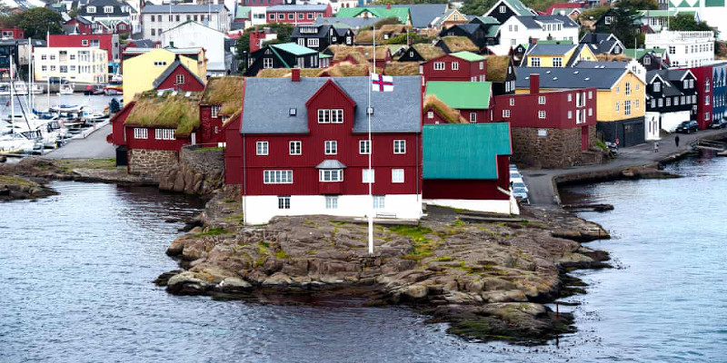 Tinganes is the historic location of the Faroese landsstýri (The government), and is a part of Tórshavn