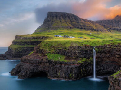 Múlafossur is one of the most popular tourist attractions in the Faroe Islands