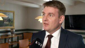 Aksel V. Johannesen, leader of the Social Democratic Party (Javnaðarflokkurin)