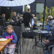 "Guests at ""Á Kletti"" café (Image credits: Jens Kr. Vang)"