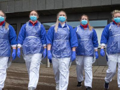 Corona nurses (Image credits: Ólavur Frederiksen/FaroePhoto)