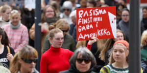 Protest march in the streets of Tórshavn (Image credits: Bjarni Enghamar)