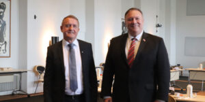 Jenis av Rana and Mike Pompeo (Image credits: Ministry of Foreign Affairs and Culture)