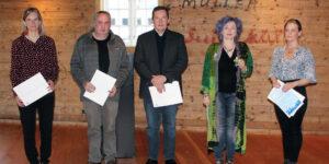From left to right: Marjun Syderbø Kjelnæs, Hjalmar P. Petersen, Jógvan D. Hansen, Rakel Helmsdal og Maria Róadóttir Jæger (Image credits: Tórshavn Municipality)